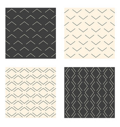abstract linear seamless patterns set vector image