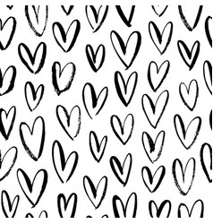 Abstract seamless heart pattern ornament vector