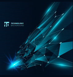 abstract technology blue color triangles with vector image