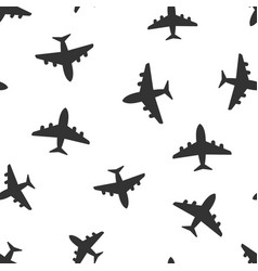 airplane seamless pattern background icon flat vector image