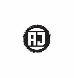 Aj logo initial letter monogram with abstract vector