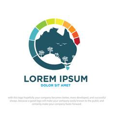 australian green vector image