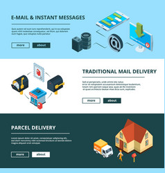Banners set with mailing vector