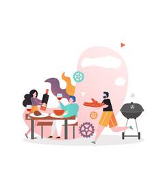 Bbq food concept for web banner website vector