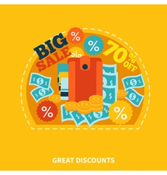 Big sale shopping composition vector