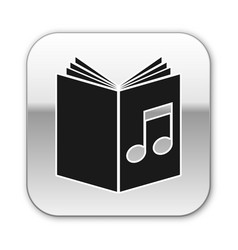 Black audio book icon isolated on white vector