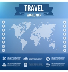 Blurred Landscape Map Web and Mobile Template vector