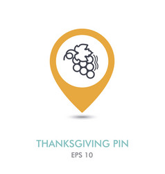 bunch of grapes mapping pin icon harvest vector image
