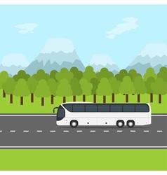 Bus trip vector