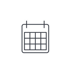 calendar thin line icon linear symbol vector image