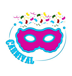 carnival mask and party ornaments vector image
