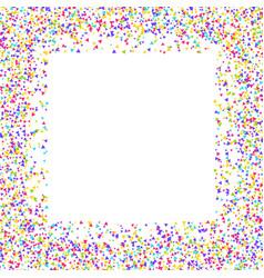 Confetti border vector