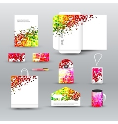 Corporate identity template with dotted background vector