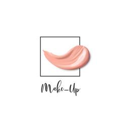 cosmetic logo concept design of lliquid vector image