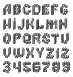 Cube alphabet vector