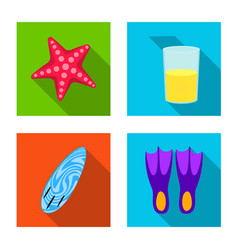 Design of equipment and swimming icon vector