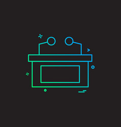 desk icon design vector image