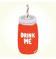 Drink me jar isolated vector image