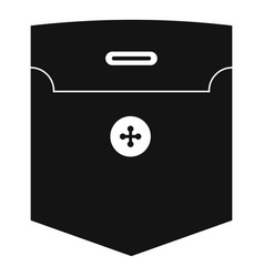 Fashion pocket for shirt icon simple style vector