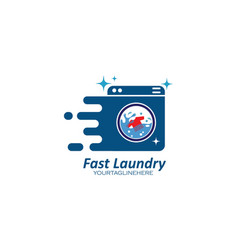fast laundry logo icon design vector image