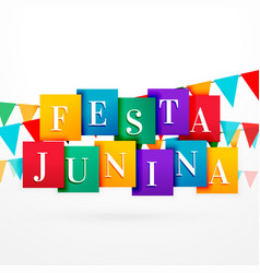 festa junina holiday background with colorful vector image