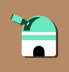Flat icon design collection telescope station in vector