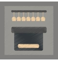 Flat shading style icon pub bar vector