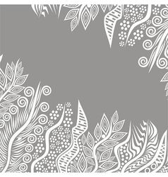 Floral nature pattern background vector image