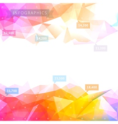 Geometric low poly background vector image