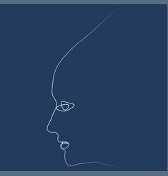 girl s face one line vector image