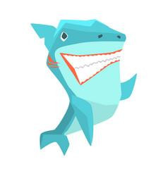 great white shark marine fish living in warm sea vector image