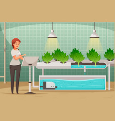 Greenhouse farming background vector