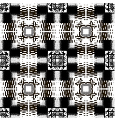 halftone black and white modern seamless pattern vector image