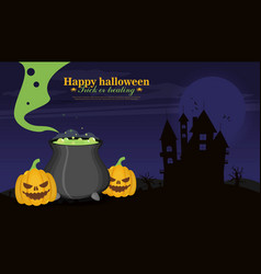 Halloween background flat design vector