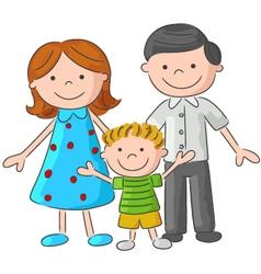 Happy family sketch vector image