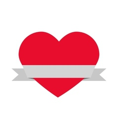 heart and ribbon vector image