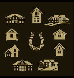 house set gold vector image