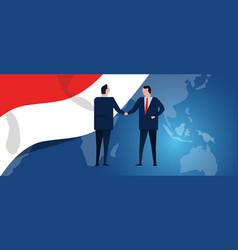 indonesia international partnership diplomacy vector image