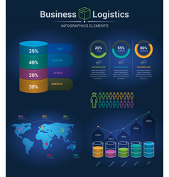 Infographic template for logistics vector