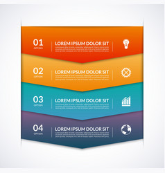 Infographic template with 4 arrows options parts vector image
