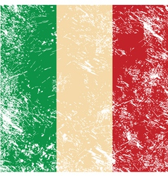 Italy retro flag vector