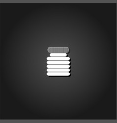 jar icon flat vector image