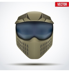 Khaki paintball mask with goggles Original design vector image vector image