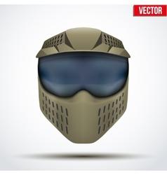 Khaki paintball mask with goggles Original design vector image