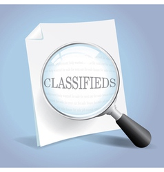 Looking at the Classifieds vector image