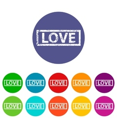 Love flat icon vector image