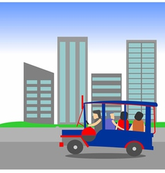 Manila jeepney passenger vector