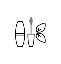 mascara brush icon black vector image