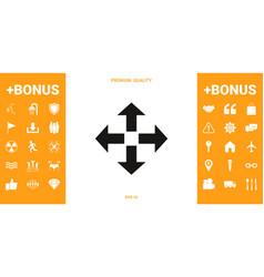 move icon symbol vector image