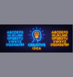 neon sign creative idea template for design with vector image